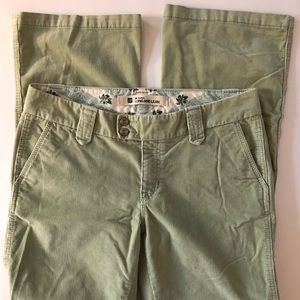 Gap Long and Lean Green Corduroys 12R Flare